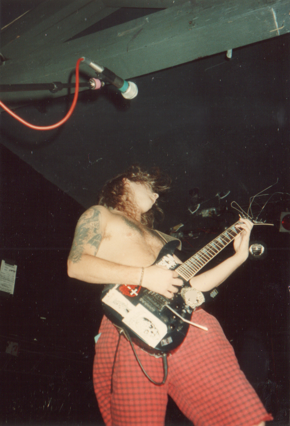 TOM from Phlegm 1992 in Cleveland Live photo by Duaniac