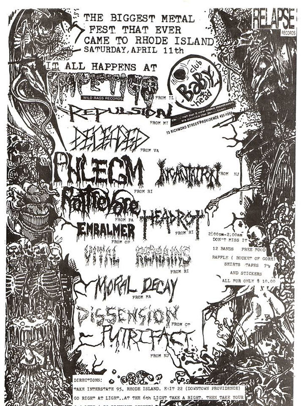 Old school fest line up with fellow Necroharmonic bands Incantation , Phlegm , Putrifact