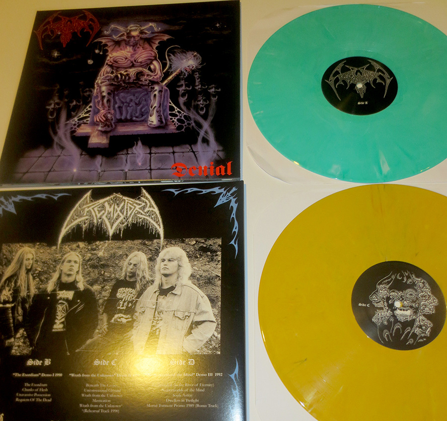 CREMATORY yellow and green necroharmonic lp