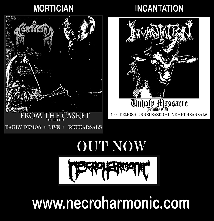 Necroharmonic sale Mortician and Incantation Double demos CDs releases with classic 1989- 1990's demo releases , rehearsals and Live material wrapped into Double CDs.
