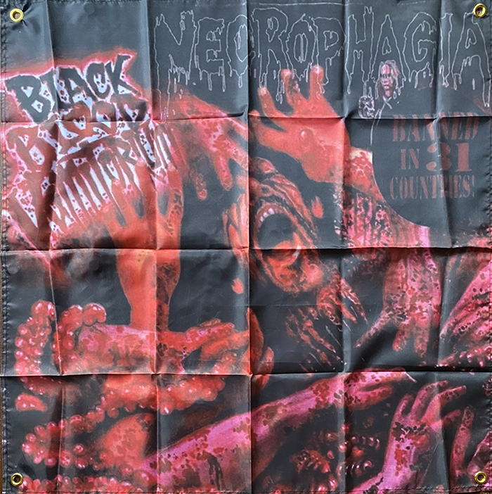 This image has an empty alt attribute; its file name is necrophagia-flag-Black-blood-2.jpg